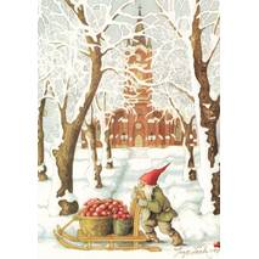 210 - Dwarf with Sledge - Postcard