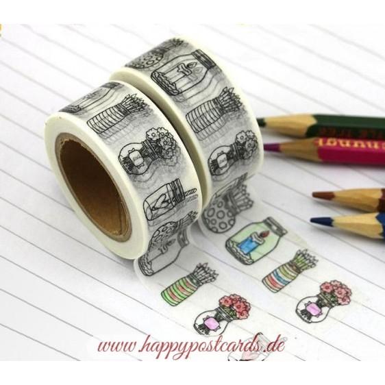 Pot - Coloring - Washi Tape - Masking Tape