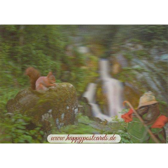 3D Schwarzwald mit Eichhörnchen - 3D Postkarte