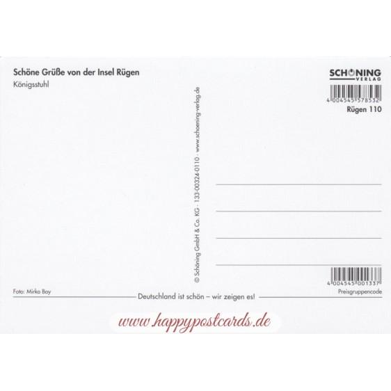 3D Rügen - Königsstuhl - 3D Postkarte