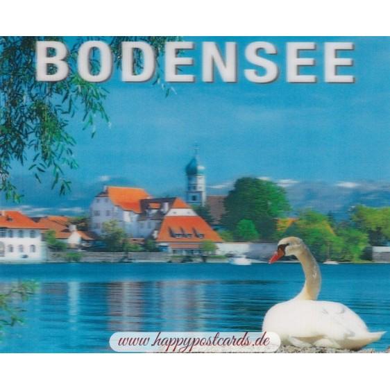 3D Bodensee - Halbinsel Wasserburg - 3D Postkarte