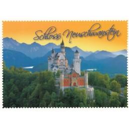 Königsschloss Neuschwanstein 3 Briefmarkenrand - Ansichtskarte
