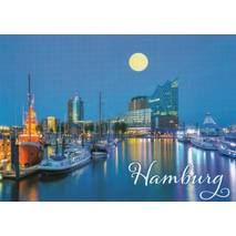 Hamburg Moonlight - Viewcard