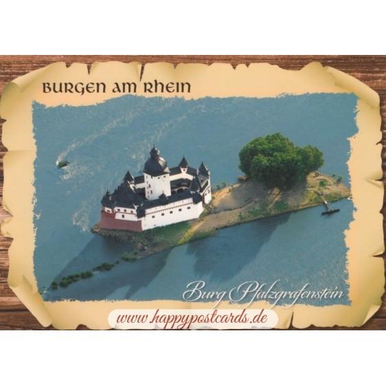 Castle Pfalzgrafenstein - Viewcard