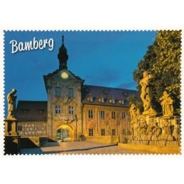 Bamberg - Rathaus - Briefmarkenrand - Ansichtskarte