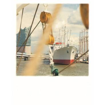 Hamburg - Elphie und Hafen - PolaCard