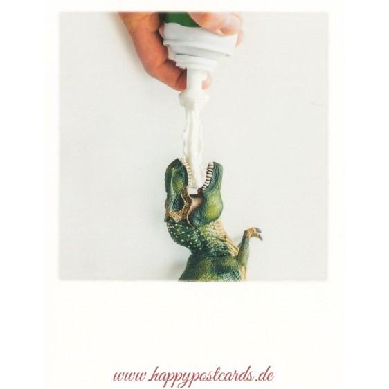 Tyrannosaurus cream - PolaCard