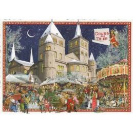 Gruss aus Trier - Weihnachtsmarkt - Tausendschön - Weihnachtskarte