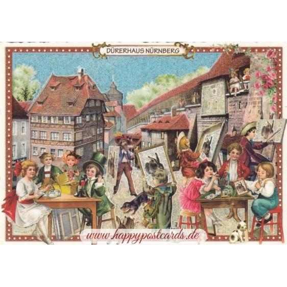 Nürnberg - Dürerhaus - Tausendschön - Postkarte