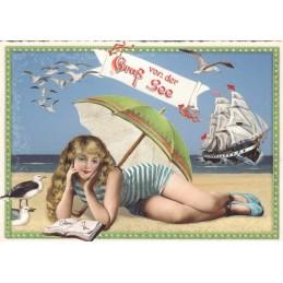 Gruss von der See - Tausendschön - Postcard