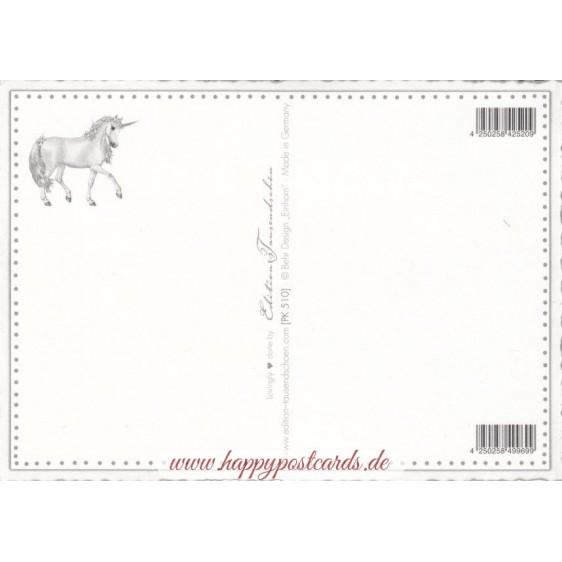 Einhorn - Tausendschön - Postkarte