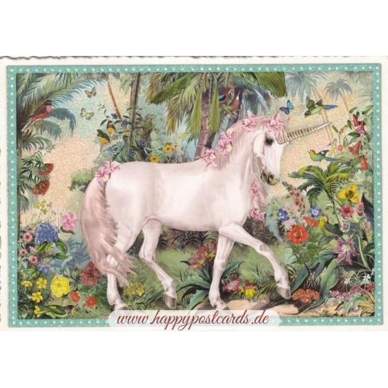 Unicorn - Tausendschön - Postcard
