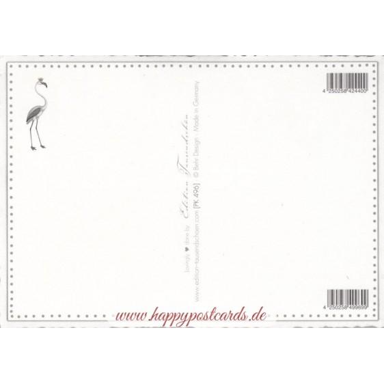 4 Flamingos - Tausendschön - Postkarte