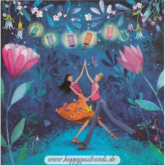 Sommernachtsparty - Mila Marquis Postkarte