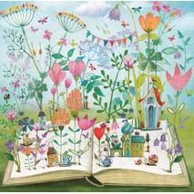 Book with Flowers - Mila Marquis Postcard
