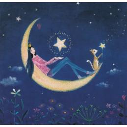 Frau mit Mond - Mila Marquis Postkarte