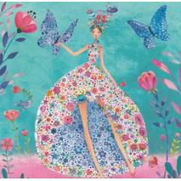 Frau mit Blütenrock - Mila Marquis Postkarte