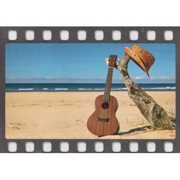 Gitarre am Strand