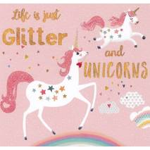 Unicorn: Life is just Glitter - Mila Marquis Postcard