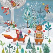 Winter animals - Mila Marquis Postcard