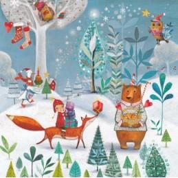 Winterliche Tiere - Mila Marquis Postkarte