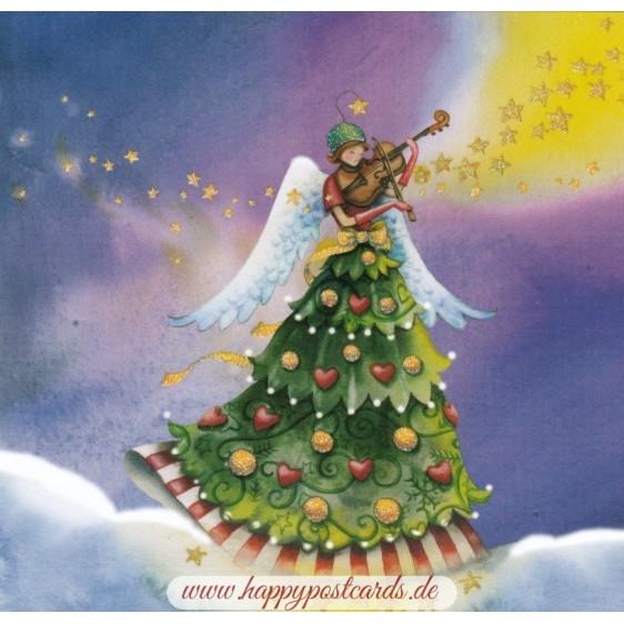 Engel spielt Geige - Nina Chen Postkarte