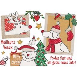Frohes Fest - animals - Carola Pabst Postcard