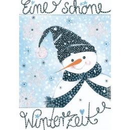 Eine schöne Winterzeit - Weihnachspostkarte