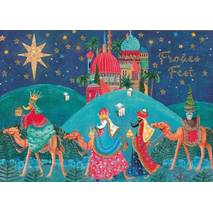 Frohes Fest - Three Magi  - Postcard
