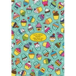 Suche deinen Kuchen. Alles Gute zum Geburtstag! - Lali Postkarte