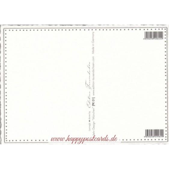 München - Lederhose 2 - Tausendschön - Postkarte