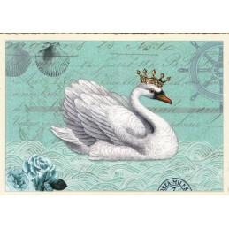 Schwan - Tausendschön - Postkarte