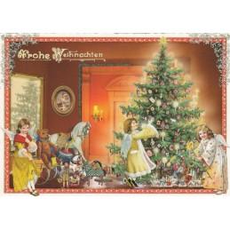 Engel mit Weihnachtsbaum - Tausendschön - Weihnachtskarte