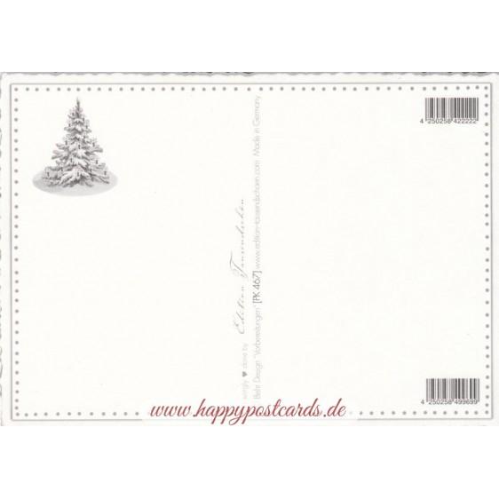 Engel mit Weihnachtsbaum - Tausendschön - Weihnachtspostkarte