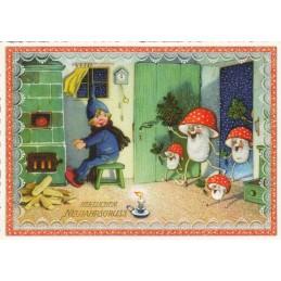Herzlicher Neujahrsgruß - Tausendschön - Weihnachtspostkarte