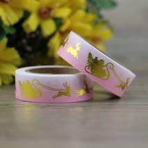 Rentierschlitten Gold - Folie - Washi Tape - Masking Tape