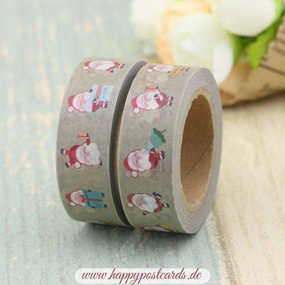 Happy Santa Claus - Washi Tape - Masking Tape