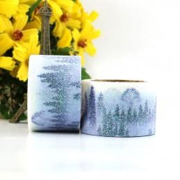 Schneelandschaft - Glitter - Washi Tape - Masking Tape