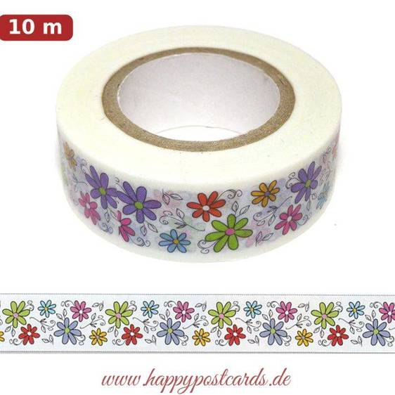 Blumenbordüre 9 - Washi Tape - Masking Tape