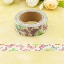 Colourful Butterflies - Washi Tape - Masking Tape