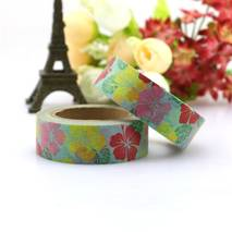 Colourful blossoms - Washi Tape - Masking Tape