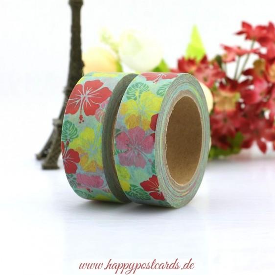Colourful blossoms - Washi Tape - Masking Tape