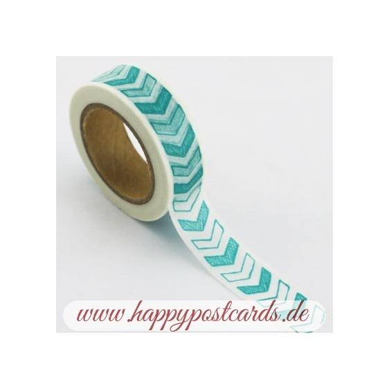 Turqoise chevron - Washi Tape - Masking Tape