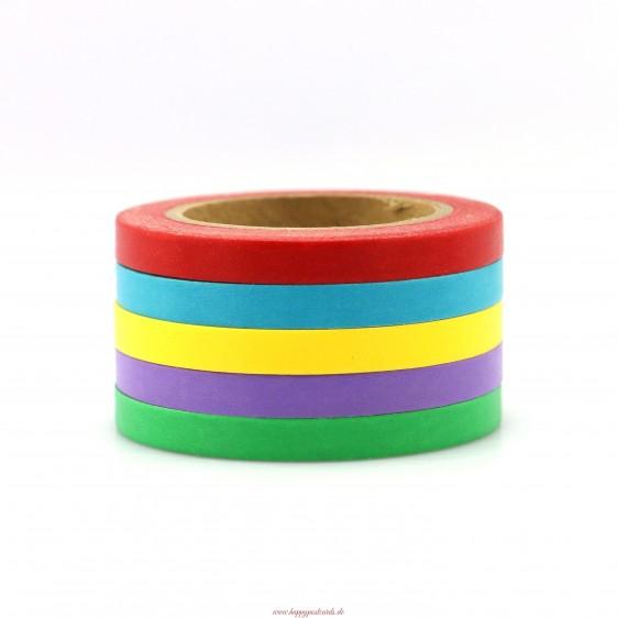Mix 5 thinn rolls 3 solid - Washi Tape - Masking Tape