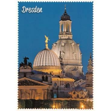 Dresden - Frauenkirche Briefmarkenrand - Ansichtskarte