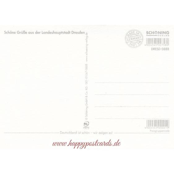 Dresden - Ortsschild - Postkarte