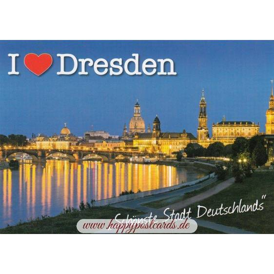 I love Dresden - Viewcard