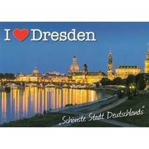 I love Dresden - Viewcard