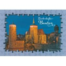 Bautzen Church - Puzzleborder Viewcard