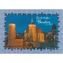 Bautzen Michaeliskirche - Puzzlerand Ansichtskarte